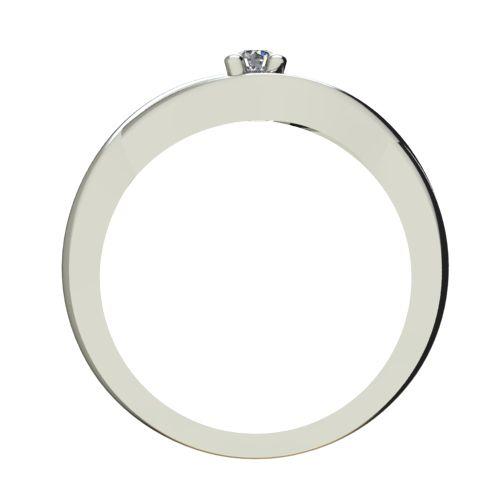 Годежен Пръстен бяло злато с диамант Eyes 0,04 ct. 2270 b