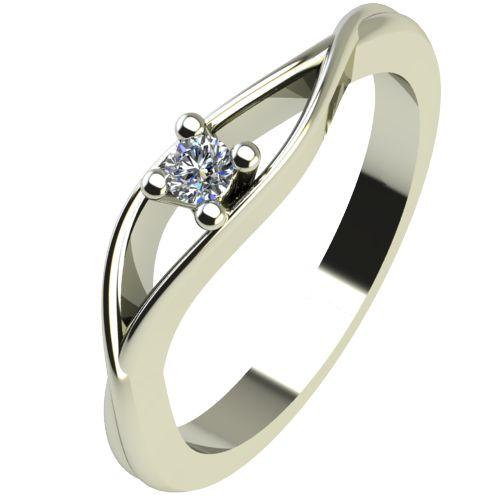 Годежен Пръстен бяло злато с диамант Eyes 0,04 ct. 2270