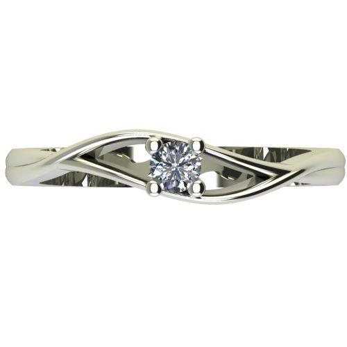 Годежен Пръстен бяло злато с диамант Eyes 0,07 ct. 2271 a