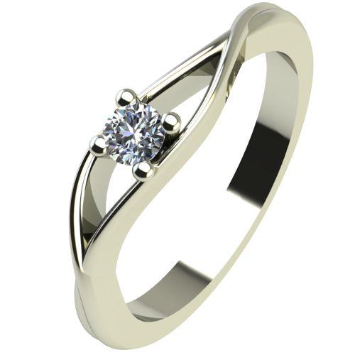 Годежен Пръстен бяло злато с диамант Eyes 0,07 ct. 2271