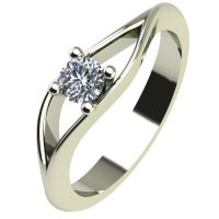 Годежен Пръстен бяло злато с диамант Eyes 0,12 ct. 2272