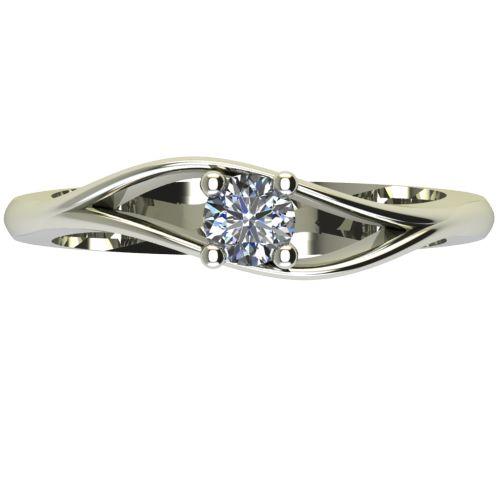 Годежен Пръстен бяло злато с диамант Eyes 0,17 ct. 2273 a