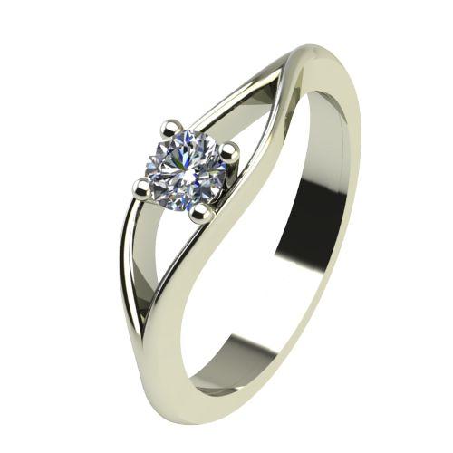Годежен Пръстен бяло злато с диамант Eyes 0,17 ct. 2273