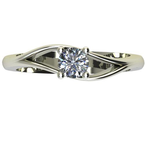 Годежен Пръстен бяло злато с диамант Eyes 0,25 ct. 2274 a