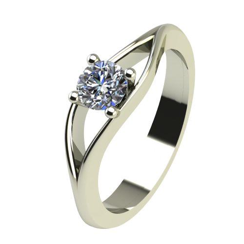 Годежен Пръстен бяло злато с диамант Eyes 0,25 ct. 2274