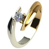 Годежен Пръстен от злато с диамант Date 0,04 ct. 1265
