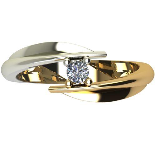 Годежен Пръстен от злато с диамант Date 0,04 ct. 1265 a