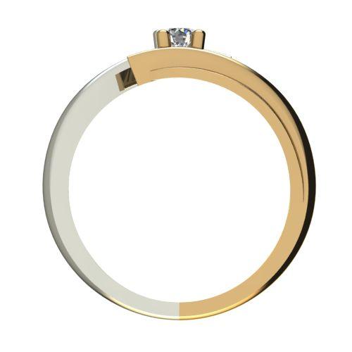 Годежен Пръстен от злато с диамант Date 0,04 ct. 1265 b