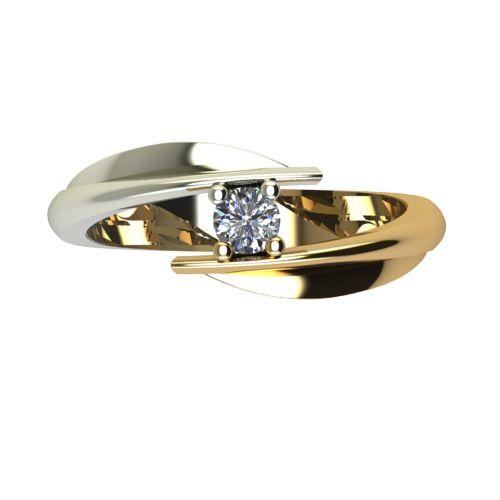 Годежен Пръстен от злато с диамант Date 0,07 ct. 1266 a