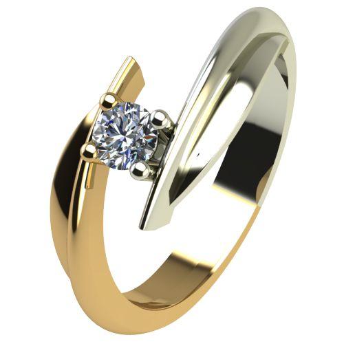 Годежен Пръстен от злато с диамант Date 0,07 ct. 1266