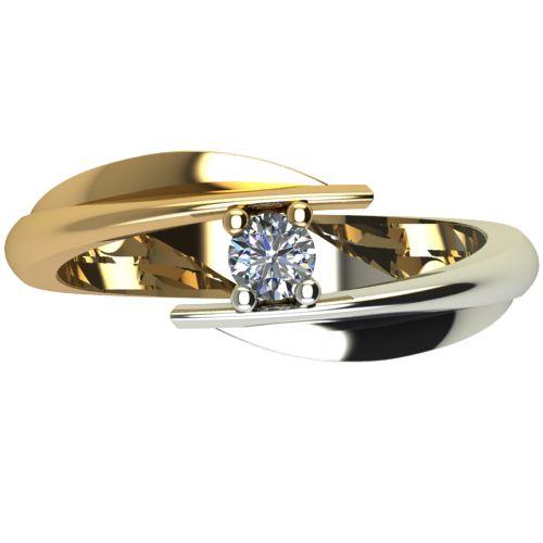 Годежен Пръстен от злато с диамант Date 0,12 ct. 1267 а