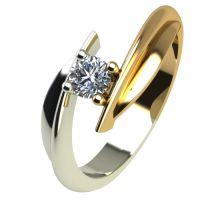 Годежен Пръстен от злато с диамант Date 0,17 ct. 1268