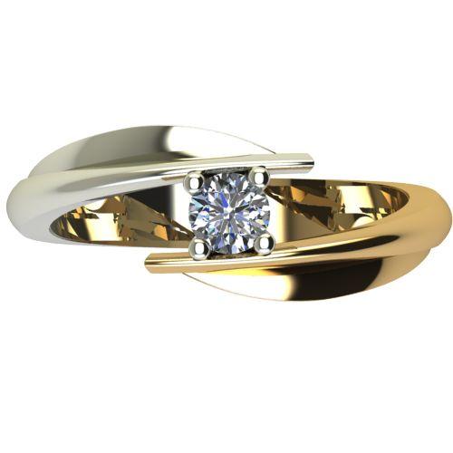 Годежен Пръстен от злато с диамант Date 0,17 ct. 1268 a