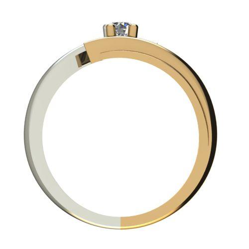 Годежен Пръстен от злато с диамант Date 0,17 ct. 1268 b