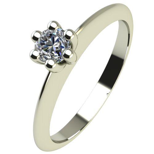Годежен Пръстен бяло злато с диамант Cante 0,04 ct. 2298