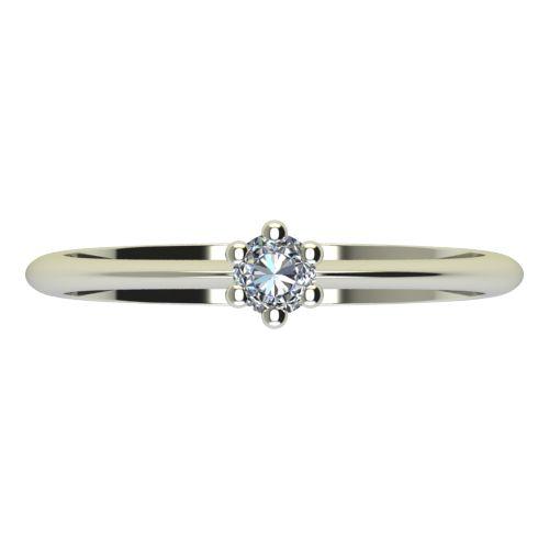Годежен Пръстен бяло злато с диамант Cante 0,07 ct. 2299 a