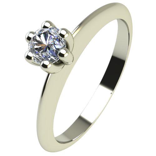 Годежен Пръстен бяло злато с диамант Cante 0,07 ct. 2299
