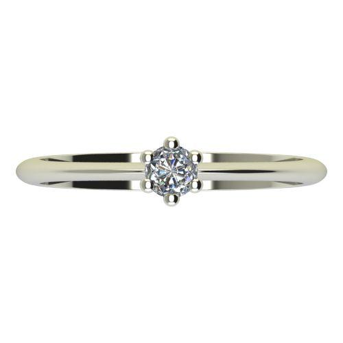 Годежен Пръстен бяло злато с диамант Cante 0,12 ct. 2300 a