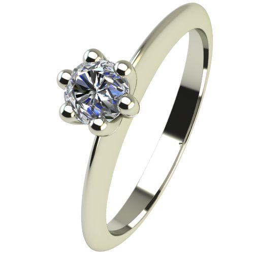 Годежен Пръстен бяло злато с диамант Cante 0,12 ct. 2300