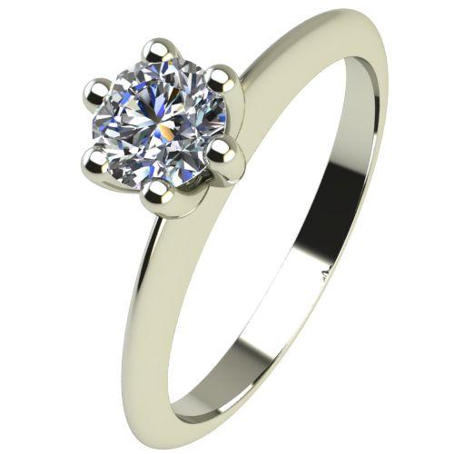 Годежен Пръстен бяло злато с диамант Cante 0,17 ct. 2301