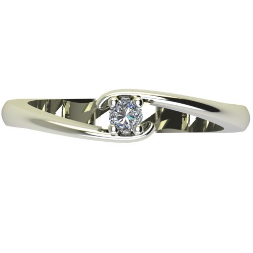Годежен Пръстен бяло злато с диамант Close 0,04 ct. 2288 a