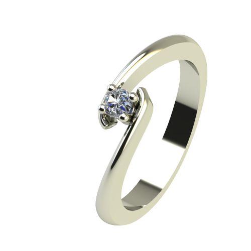 Годежен Пръстен бяло злато с диамант Close 0,04 ct. 2288