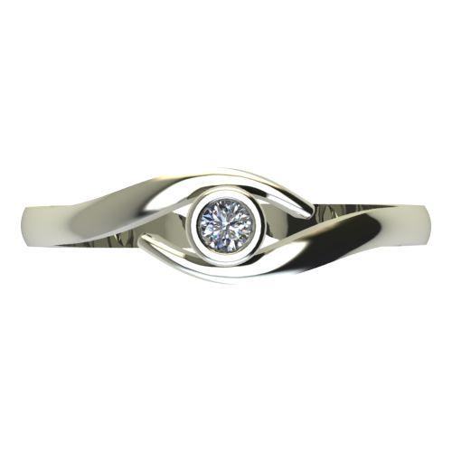 Годежен Пръстен бяло злато с диамант Close 0,04 ct. 2293 a