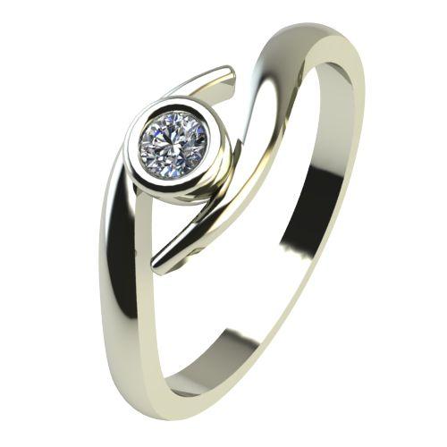 Годежен Пръстен бяло злато с диамант Close 0,04 ct. 2293