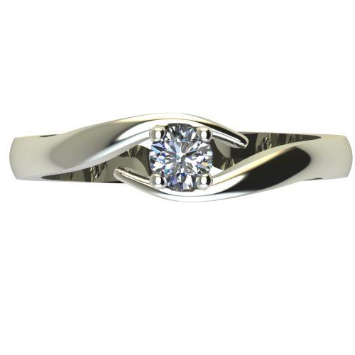 Годежен Пръстен бяло злато с диамант Close 0,04 ct. 2325 a