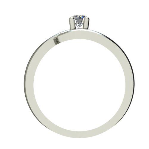 Годежен Пръстен бяло злато с диамант Close 0,04 ct. 2325 b