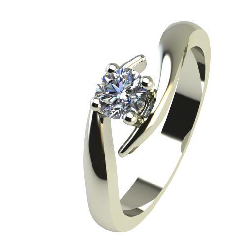 Годежен Пръстен бяло злато с диамант Close 0,04 ct. 2325