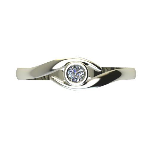Годежен Пръстен бяло злато с диамант Close 0,07 ct. 2294 a