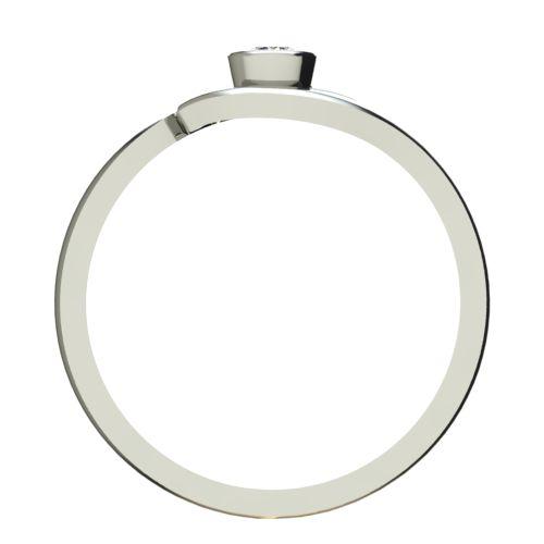 Годежен Пръстен бяло злато с диамант Close 0,07 ct. 2294 b