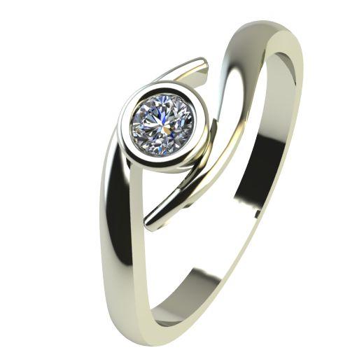 Годежен Пръстен бяло злато с диамант Close 0,07 ct. 2294
