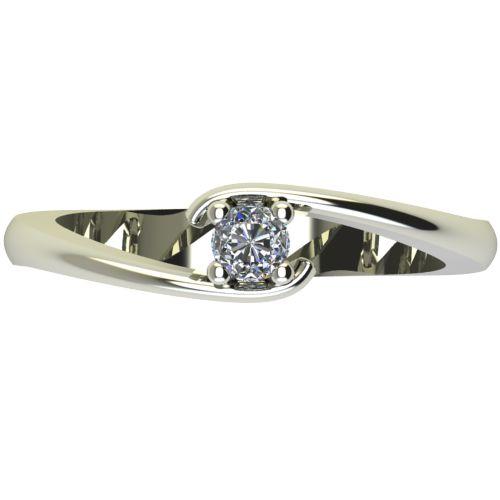 Годежен Пръстен бяло злато с диамант Close 0,12 ct. 2290 a