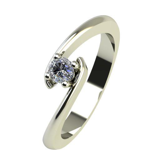 Годежен Пръстен бяло злато с диамант Close 0,12 ct. 2290