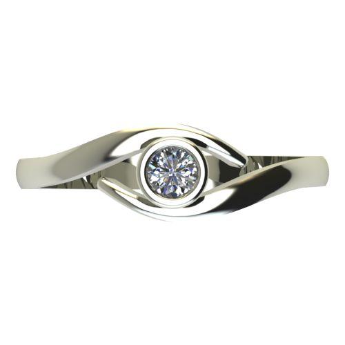 Годежен Пръстен бяло злато с диамант Close 0,12 ct. 2295 a