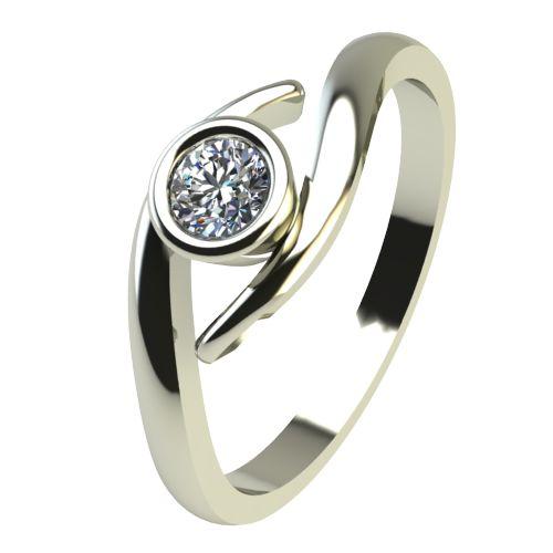 Годежен Пръстен бяло злато с диамант Close 0,12 ct. 2295