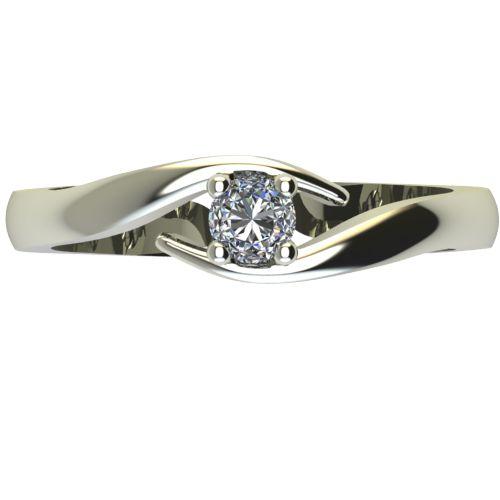 Годежен Пръстен бяло злато с диамант Close 0,12 ct. 2327 a
