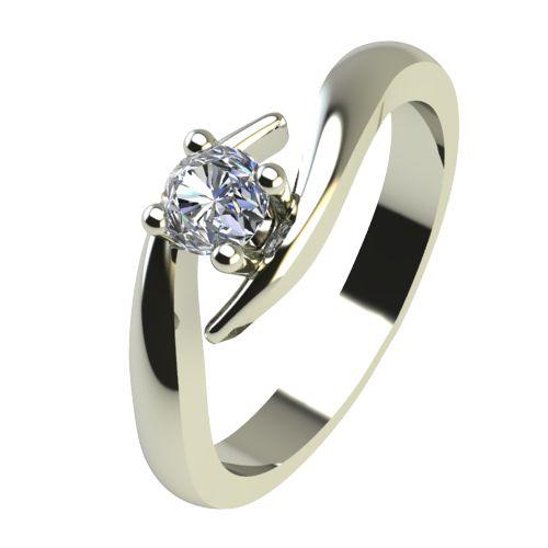 Годежен Пръстен бяло злато с диамант Close 0,12 ct. 2327