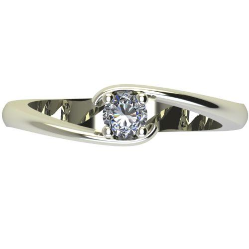 Годежен Пръстен бяло злато с диамант Close 0,17 ct. 2291 a