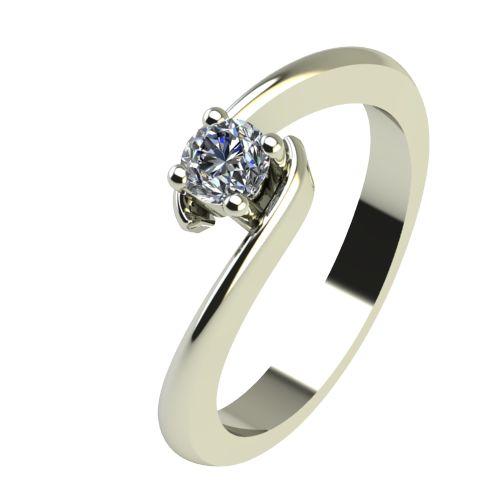 Годежен Пръстен бяло злато с диамант Close 0,17 ct. 2291