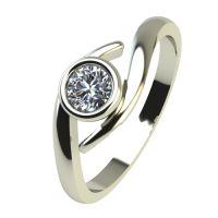 Годежен Пръстен бяло злато с диамант Close 0,17 ct. 2296