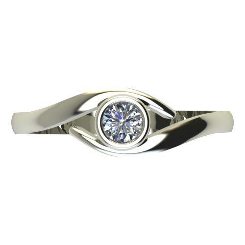 Годежен Пръстен бяло злато с диамант Close 0,17 ct. 2296 a