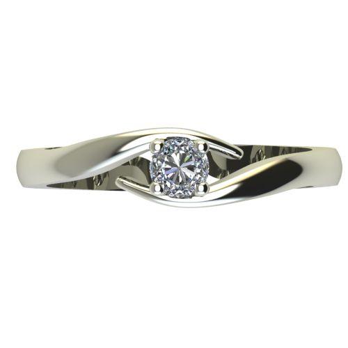 Годежен Пръстен бяло злато с диамант Close 0,17 ct. 2328 a