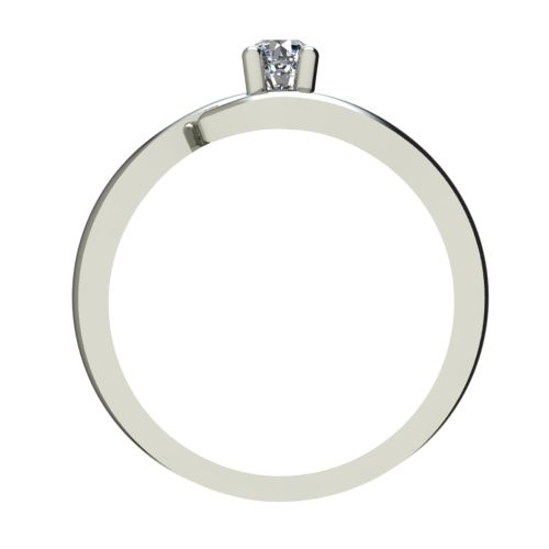 Годежен Пръстен бяло злато с диамант Close 0,17 ct. 2328 b