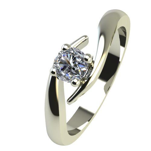 Годежен Пръстен бяло злато с диамант Close 0,17 ct. 2328