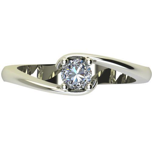 Годежен Пръстен бяло злато с диамант Close 0,25 ct. 2292 a