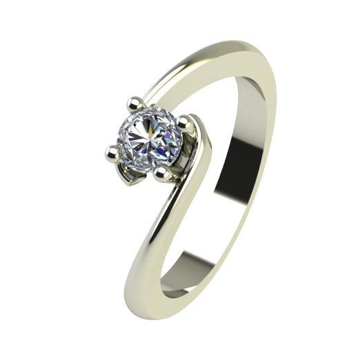 Годежен Пръстен бяло злато с диамант Close 0,25 ct. 2292