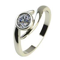 Годежен Пръстен бяло злато с диамант Close 0,25 ct. 2297